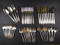 55 Piece Set Oneida Nobility Plate REVERIE Silverplate Vintage Flatware Lot
