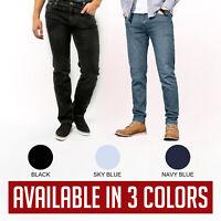 Black Navy/Blue Sky/Blue Casual Men Denim Jeans Straight All Sizes Waist 30W-50W