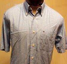 Tommy Hilfiger Blue Short Sleeve Button Down Shirt Size S