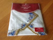 "Royal Albert Four Moonlight Rose Napkins 17"" Square New In Packaging"