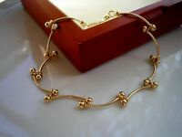 GORGEOUS GENUINE 9ct Gold gf Bracelet THIS IS STUNNING, ONLY A FEW LEFT ref 044