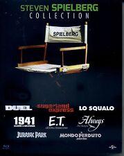 Blu Ray STEVEN SPIELBERG (8 Blu-Ray) Lo Squalo E.T. Jurassic Park Dueln 1941 NEW