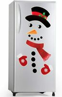Christmas Snowman Refrigerator Magnets Set Cute Funny Fridge Magnet Stickers