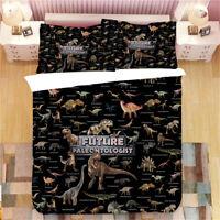 Cool Jurassic Dinosaurs T-Rex Bedding Duvet Quilt Cover Set Single Double Queen