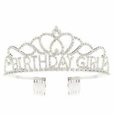 Birthday Girl Tiara Party Crown Silver Accessories (Tiara)