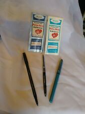 Mini lot of Vintage Paper Mate Double Heart Pens & Refills
