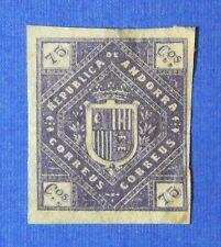1875 ANDORRA SPANISH 75C UNISSUED STAMP SCOTT# - MICHEL #- UNUSED IMPERF CS25525