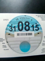 Blank Unused Tax Disc Aug 2015 Mint Condition Collectable