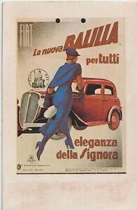 1929 FIAT LA NUOVA BALILLA PER TUTTI DUDOVICH