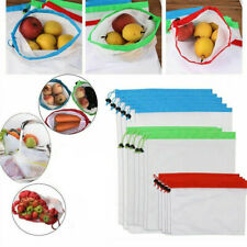 1pc Reusable Mesh Produce Bags Grocery Fruit Vegetable Storage  Eco Friendly