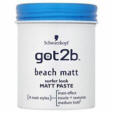 10 X Schwarzkopf got2b Beach Matt PASTE Surfer Look 100ml