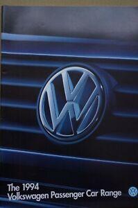 VW range brochure 44p 1994 Polo G40 Golf GTi cabrio Corrado VR6 Passat Caravelle