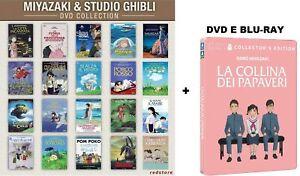 MIYAZAKI & STUDIO GHIBLI- 21 FILM - DVD SINGOLI - ITALIANI