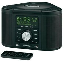 Pure Chronos CD Series II DAB Radio Sveglia Digitale NERO LETTORE CD USB