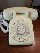Vintage New England Telephone Company Beige Rotary Telephone Untested