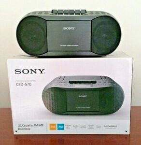 Sony CFD-S70 Classic CD and Tape Boombox with Radio (Black)