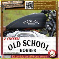 2 stickers autocollant old school bobber moto réservoir decal custom motorcycles