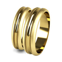 Wedding Rings Matching His and Hers Yellow Gold Patterned Promise Bands Hallmark