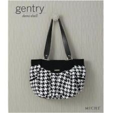 Miche Gentry Med Demi Shell Item # 3113 Houndstooth Fabric Side Pockets NEW