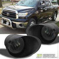 Smoke 2007-2013 Toyota Tundra Chrome Bumper Fog Lights Switch+Bracket Left+Right