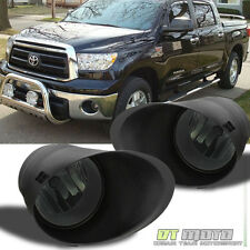 Smoke 2007-2013 Toyota Tundra Chrome Bumper Fog Lights Switch+Bracket Left+Right
