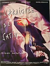Affiche 40x60cm L'ARAIGNÉE DE SATIN 1986 Jacques Baratier, Ingrid Caven, Mesguic