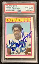 Bob Hayes Signed 1972 Topps #105 Football Card HOF Cowboys Autograph PSA/DNA