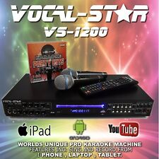 VOCAL-STAR VS-1200 CDG DVD BLUETOOTH KARAOKE MACHINE PLAYER 2 MICS 150 SONGS