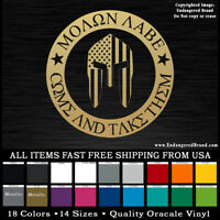 Molon Labe Come and Take Them 2nd amendment Patriotic USA Vinyl Sticker Decals