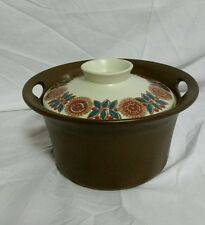 FIGGIO NORGE ASTRID COVERED CASSEROLE NORWAY BROWN FLAMEWARE