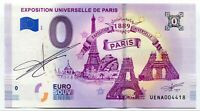 PARIS EXPOSITION 2019 0 Euro Souvenir Note Original Signature by Richard Faille