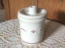 Longaberger Small Condiment Caddy. 3� H x 3� D. Heritage Red.