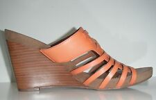 New Franco Sarto Hillary Brown Leather Wedge Comfortable Shoe sz 9.5M