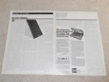 Spica TC-50 Speaker Review, 2 pg, 1984, Specs, RARE!