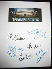 Transformers Signed Script Megan Fox Shia Labeouf Josh Duhamel Gibson reprint