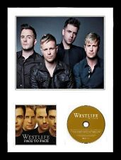 Westlife / Limited Edition / Framed / Photo & CD Presentation / Face to Face
