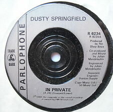 "DUSTY SPRINGFIELD - In Private - Excellent Condition 7"" Single Parlophone R 6234"