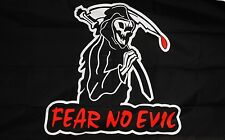 FEAR NO EVIL PIRATE FLAG 5 X 3 FEET FLAG polyester fabric GRIM REAPER PIRATES