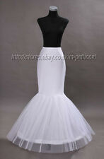 White Wedding Bridal Fishtail Mermaid Cocktail Bridal Petticoat Underskirt