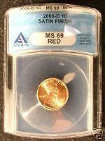 2006-D ANACS MS69 Satin Finish Set 10 Coin lot