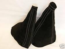 FITS FIAT COUPE GEAR & HANDBRAKE REAL SUEDE GAITERS 95-01