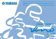 Yamaha Owners Manual Book 2016 VINO 50 CLASSIC XC50G