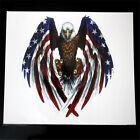 Eagle with american flag sticker helmet sticker Bumper stIcker Small