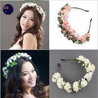 Women Flower Girl Fairy Wedding Festival Party hair headband band PROP Hoop