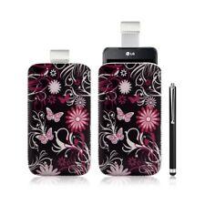 Housse coque étui pochette pour LG Optimus 2X avec motif + Stylet luxe