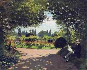 Diamond Painting Kit Adolphe Monet Reading in the Garden Claude Monet 1866
