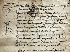 1780 Creuse St-Pierre-Fursac franc alleur DUBRAC ROCHEROLLES DUBOIS CREMIER SERE