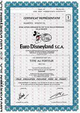 Euro Disneyland S.C.A, Paris, 1983 (1 Action), Coupons, uncancelled ohne Stempel