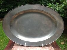 More details for 18th century oval patent pewter meat plate probably by spackman