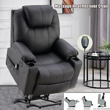 Elektrisch Aufstehhilfe Fernsehsessel Relaxsessel Massage Heizung verstellbar DE